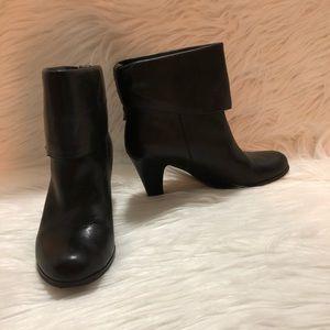 BCBG Black Leather Boots